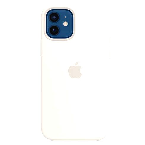 APPLE IPHONE 12/12 PRO SILICONE CASE WITH MAGSAFE WHITE