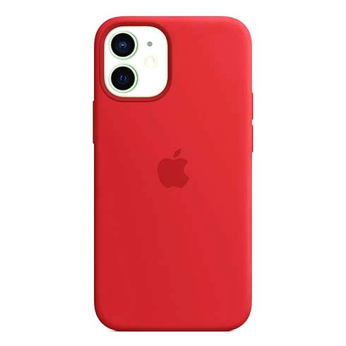 APPLE IPHONE 12 MINI SILICONE CASE WITH MAGSAFE PRODUCT RED