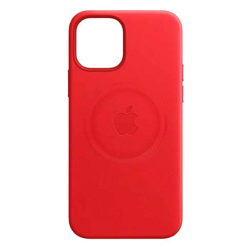APPLE IPHONE 12 PRO MAX LEATHER CASE WITH MAGSAFE PRODUCT RED