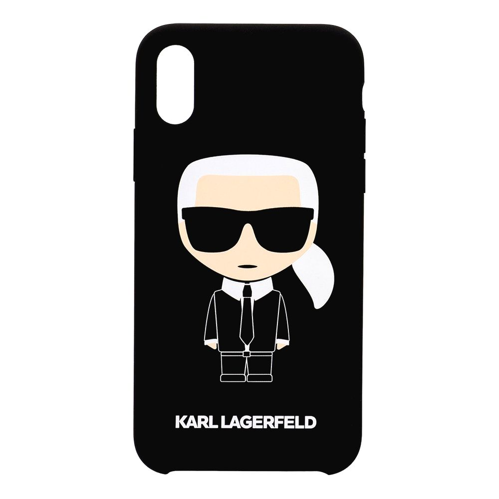 KARL LAGERFELD KLHCPXSLFKBK FULL BODY ICONIC HARD CASE PRE IPHONE X/XS BLACK