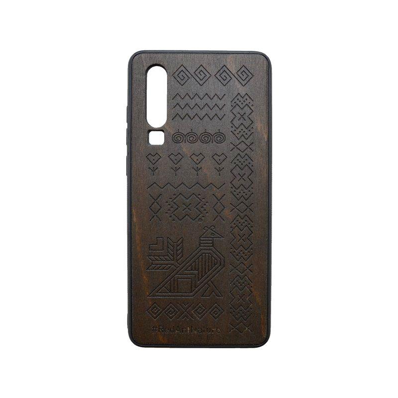 Puzdro Totem Huawei P30 tmavohnedé